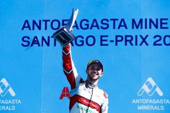 Daniel Abt, Audi Sport ABT Schaeffler, 3rd position, celebrates on the podium