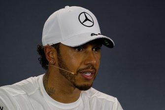 Press conference: pole sitter Lewis Hamilton, Mercedes AMG F1,