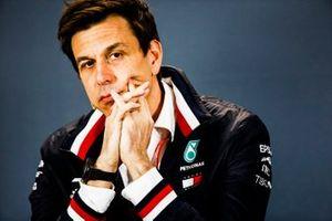 Toto Wolff, directeur exécutif, Mercedes AMG, lors de la conférence de presse