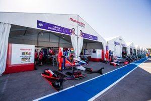 The Mahindra Racing pits