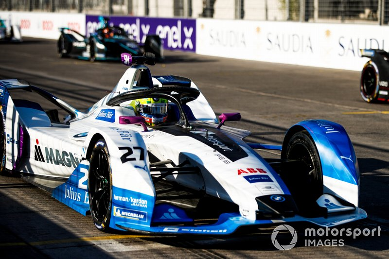 Alexander Sims, BMW I Andretti Motorsports, BMW iFE.18, practices a start