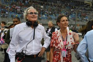 Mansour Ojjeh, co-owner, McLaren, and Catherine Zeta Jones