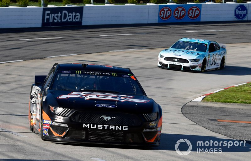 Corey LaJoie, Go FAS Racing, Ford Mustang CorvetteParts.net and Matt Tifft, Front Row Motorsports, Ford Mustang Surface Sunscreen / Tunity