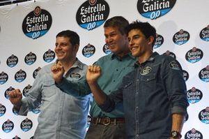 Alex Barros, Fausto Macieira y Marc Márquez