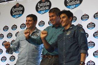 Alex Barros, Fausto Macieira e Marc Márquez