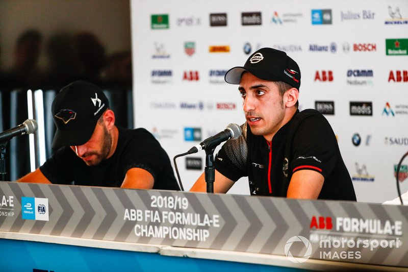 Sébastien Buemi, Nissan e.Dams in the press conference