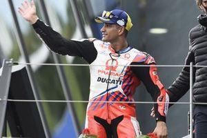 Podium: race winner Jorge Martin, Pramac Racing
