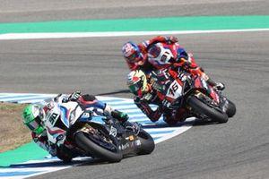 Eugene Laverty, BMW Motorrad WorldSBK Team, Samuele Cavalieri, TPR Team Pedercini Racing