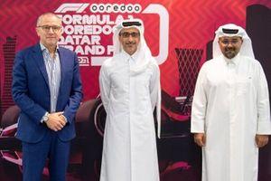 Abdul Rahman Bin Abdul Latif Al Mannai, President QMMF, Stefano Domenicali, President and CEO F1