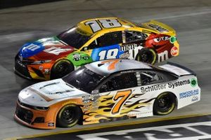 Corey LaJoie, Spire Motorsports, Chevrolet Camaro Schluter Systems and Kyle Busch, Joe Gibbs Racing, Toyota Camry M&M's
