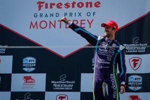 Podio: Romain Grosjean, Dale Coyne Racing with RWR Honda