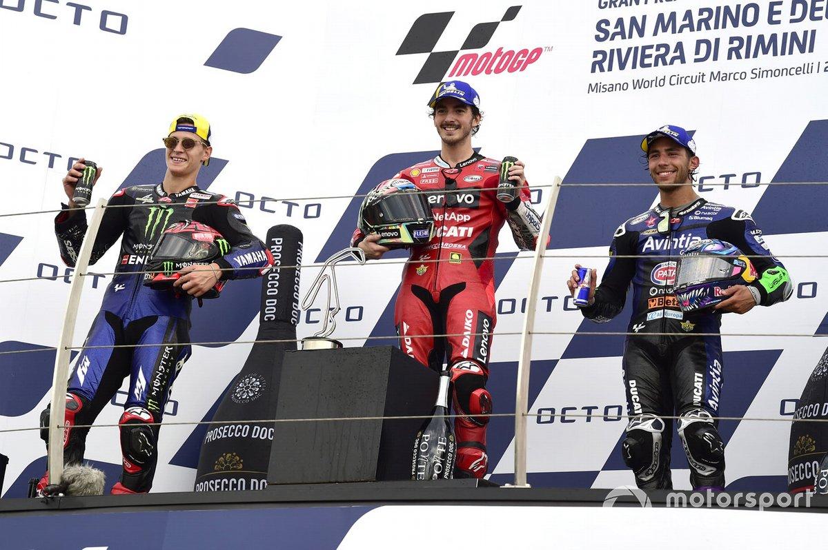 Fabio Quartararo, Yamaha Factory Racing, Francesco Bagnaia, Ducati Team, Enea Bastianini, Esponsorama Racing