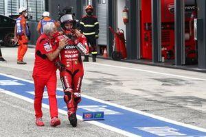 Davide Tardozzi, Team manager Ducati Team, Francesco Bagnaia, Ducati Team