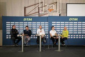 Thomas Biermaier, Team manager ABT Sportsline, Niclas Königbauer, Team manager Walkenhorst Motorsport, Ron Reichert, Team manager, AF-Corse, Ulrich Fritz, Team manager, Haupt Tacing Team, Jens Feucht, Team manager T3-Motorsport