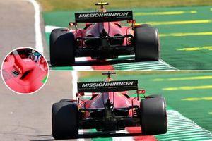 Ferrari SF21 Cooling comparison