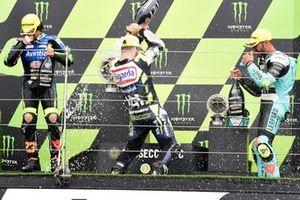 Podio: Romano Fenati, Max Racing Team, Niccolo Antonelli, Reale Avintia Moto3, Dennis Foggia, Leopard Racing