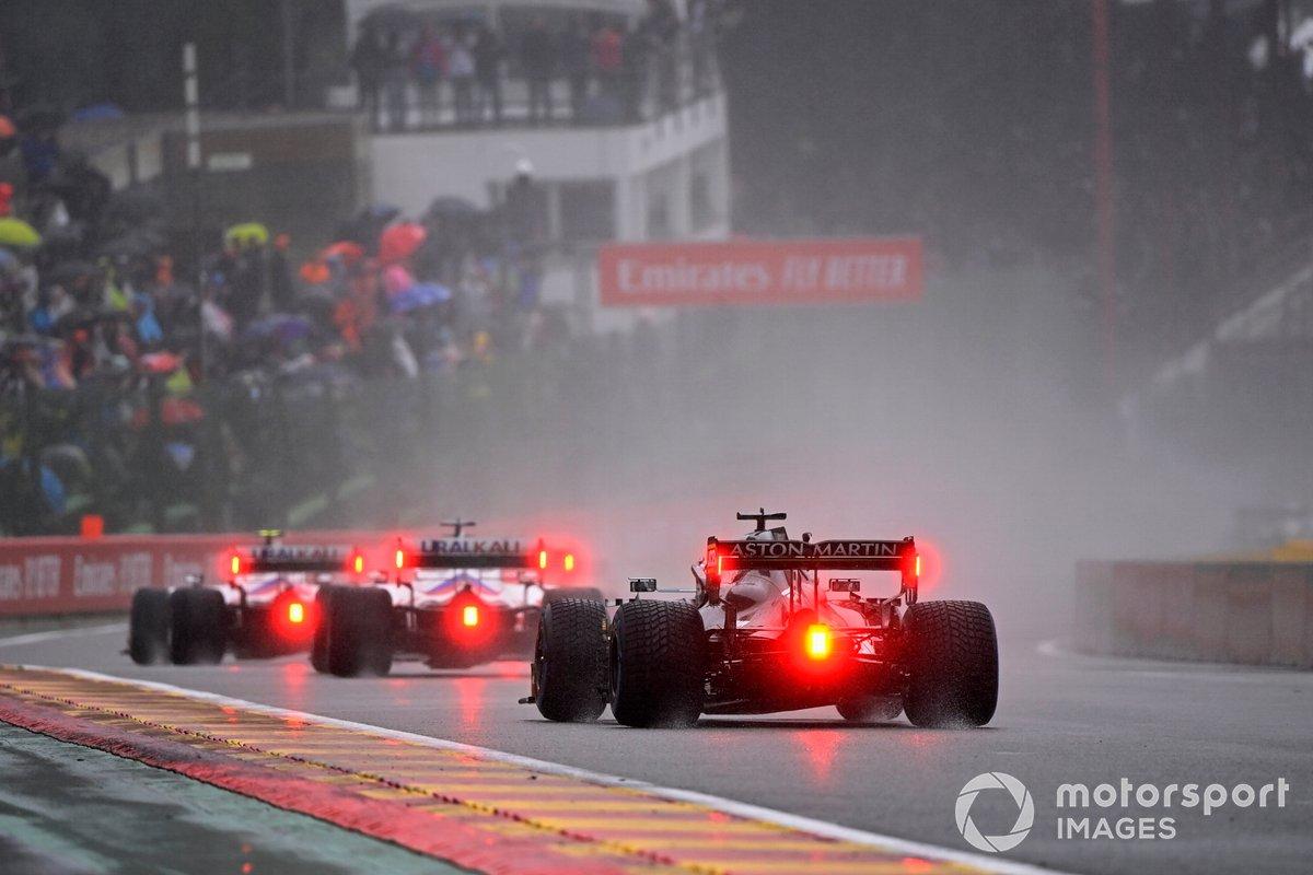Mick Schumacher, Haas VF-21, Nikita Mazepin, Haas VF-21, Lance Stroll, Aston Martin AMR21