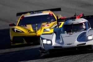 #01 Chip Ganassi Racing Cadillac DPi: Renger van der Zande, Kevin Magnussen, #3 Corvette Racing Corvette C8.R, GTLM: Antonio Garcia, Jordan Taylor