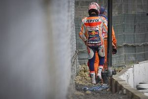 Marc Marquez, Repsol Honda Team, après sa chute