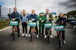 David Coulthard, Beitske Visser, Nico Rosberg, Sir Jackie Stewart, Robert Doornbos, Jan Lammers