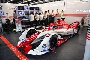 Joel Eriksson, Dragon Penske Autosport, Penske EV-5, in the garage