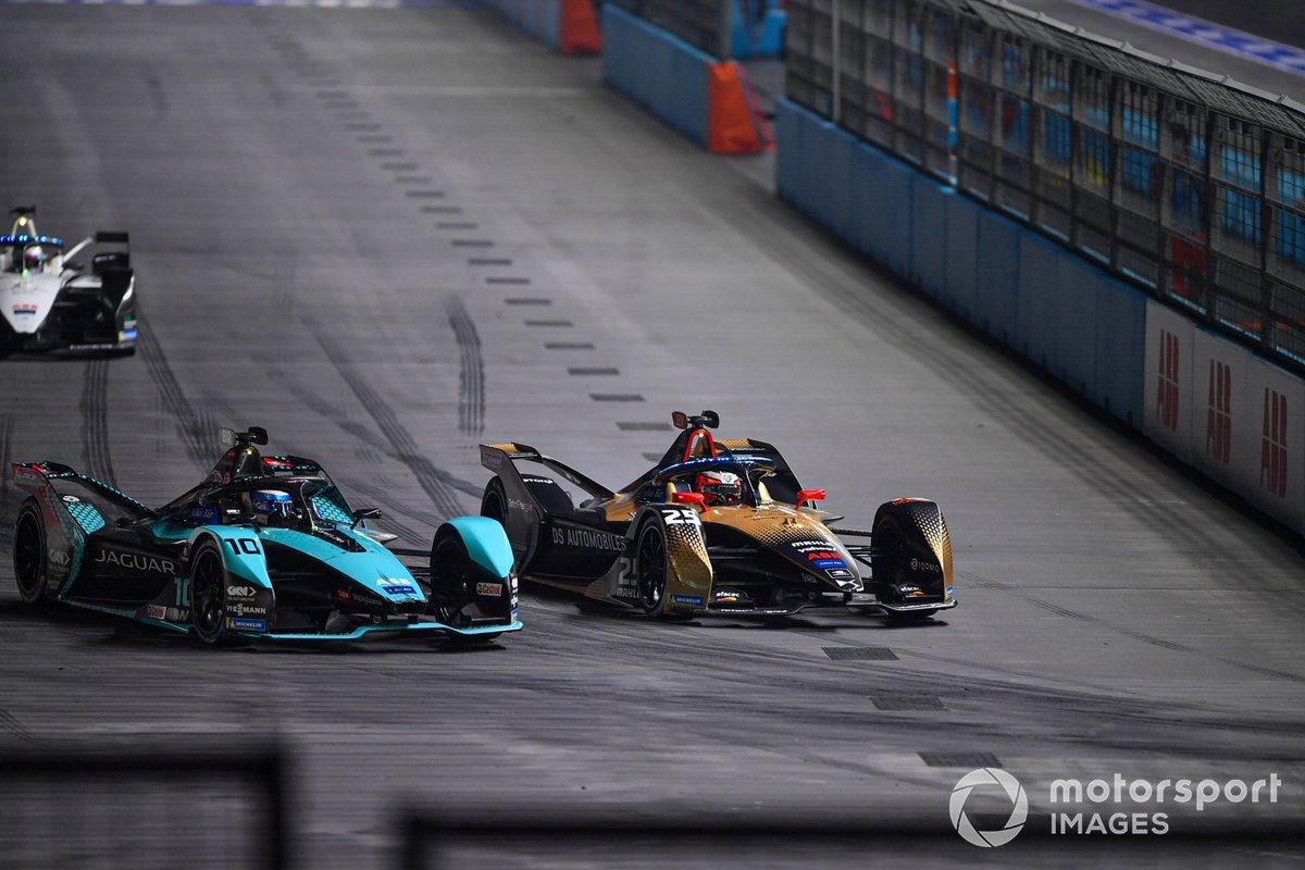 Jean-Eric Vergne, DS Techeetah, DS E-Tense FE21, Sam Bird, Jaguar Racing, Jaguar I-TYPE 5