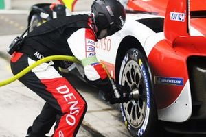 Toyota Gazoo Racing mechanics in action