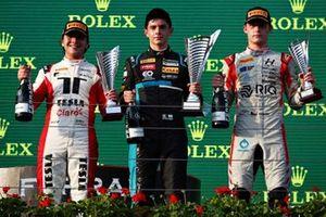 Podium: Race winner Matteo Nannini, HWA Racelab, second place Enzo Fittipaldi, Charouz Racing System, third place Roman Stanek, Hitech Grand Prix