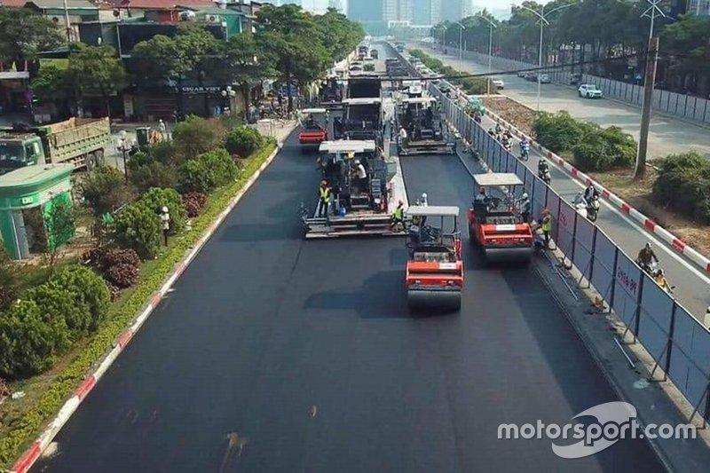 Hanoi F1 pist çalışmaları