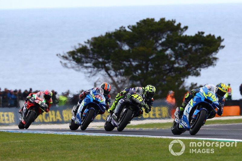 Joan Mir, Team Suzuki MotoGP, Valentino Rossi, Yamaha Factory Racing, Alex Rins, Team Suzuki MotoGP