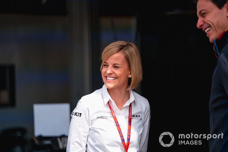 Susie Wolff, Team Principal, Venturi, husband Toto Wolff, Team Principal of Mercedes AMG F1 Team