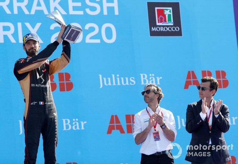 Podio: tercer lugar Jean-Eric Vergne, DS Techeetah