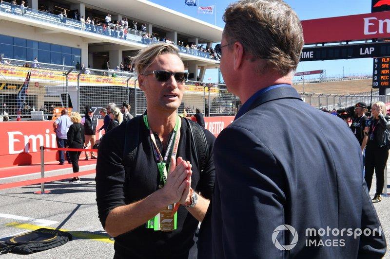 Musician Brian Tyler, compositeur du thème de la F1, avec David Coulthard