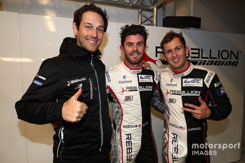 La pole de LMP1: #1 Rebellion Racing Rebellion R13 - Gibson: Bruno Senna, Gustavo Menezes, Norman Nato