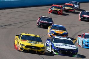 Michael McDowell, Front Row Motorsports, Ford Mustang Love's Travel Stops, Ty Dillon, Germain Racing, Chevrolet Camaro GEICO