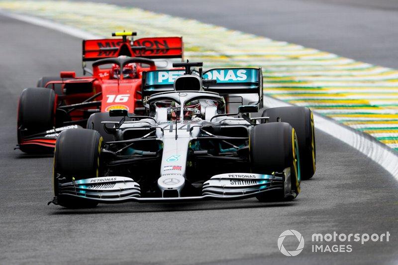 Lewis Hamilton, Mercedes AMG F1 W10, Charles Leclerc, Ferrari SF90