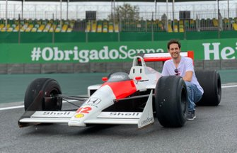 Bruno Senna and the McLaren MP4/4