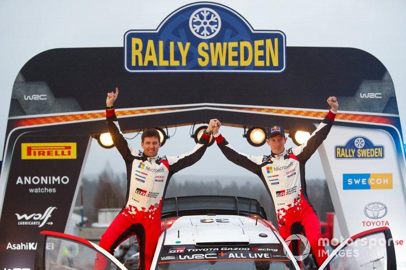 Les vainqueurs Elfyn Evans, Scott Martin, Toyota Gazoo Racing WRT Toyota Yaris WRC