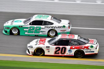 Austin Cindric, Team Penske, Ford Mustang MoneyLion and Harrison Burton, Joe Gibbs Racing, Toyota Supra Dex Imaging
