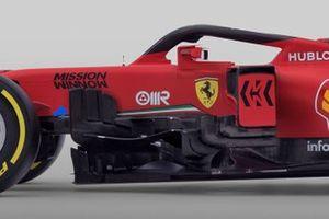 Ferrari SF1000 sidepods detail