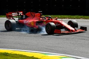 Sebastian Vettel, Ferrari SF90 lock up