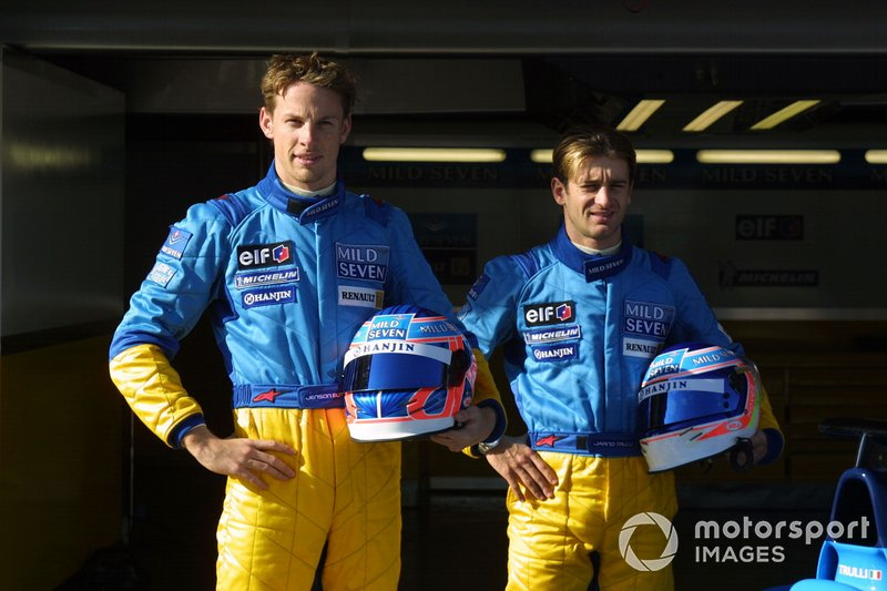 Jenson Button et Jarno Trulli chez Renault