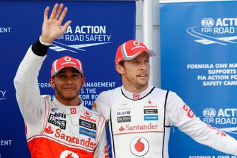 Lewis Hamilton, McLaren and Jenson Button, McLaren