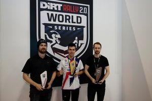 Los tres primeros en la final del Rallycross eSports