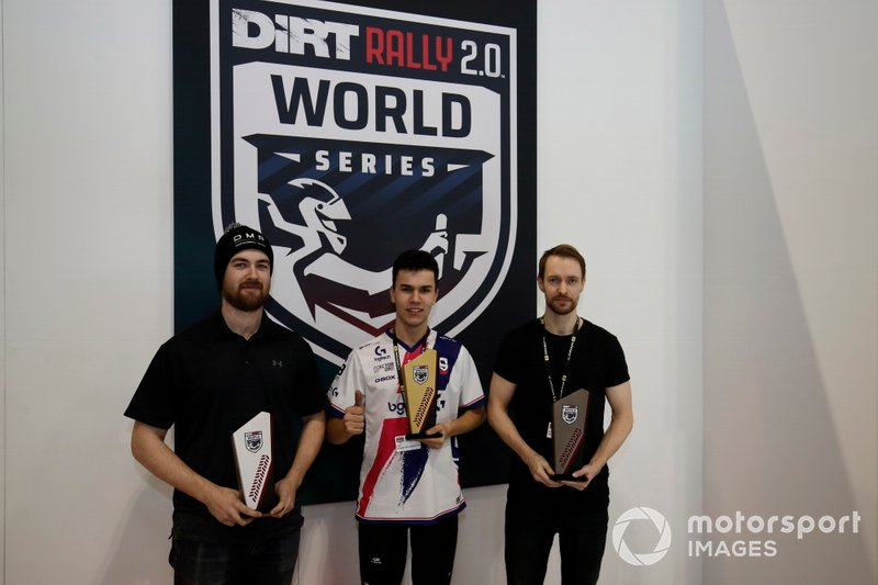 The top three in the Rallycross eSports final