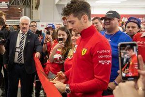 Charles Leclerc, Ferrari opens Day 4 of the Autosport International Show