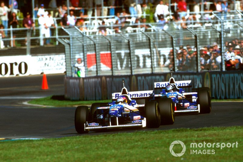 Jacques Villeneuve, Williams FW18 Renault, Damon Hill, Williams FW18 Renault