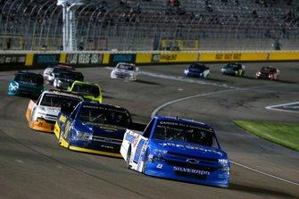 Brett Moffitt, GMS Racing, Chevrolet Silverado Allegiant and Todd Gilliland, Front Row Motorsports, Ford F-150 Black's Tire