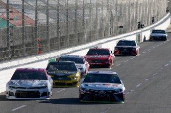 Denny Hamlin, Joe Gibbs Racing, Toyota Camry FedEx Freight, J.J. Yeley, Rick Ware Racing, Chevrolet Camaro GOTTA KILL IT TO HEAL IT