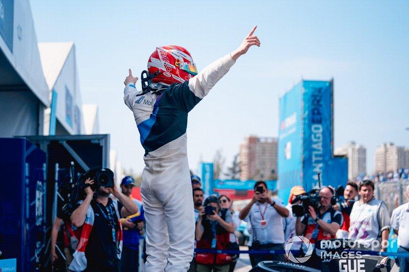 Ganador de la carrera Maximilian Günther, BMW I Andretti Motorsports celebra en parc ferme